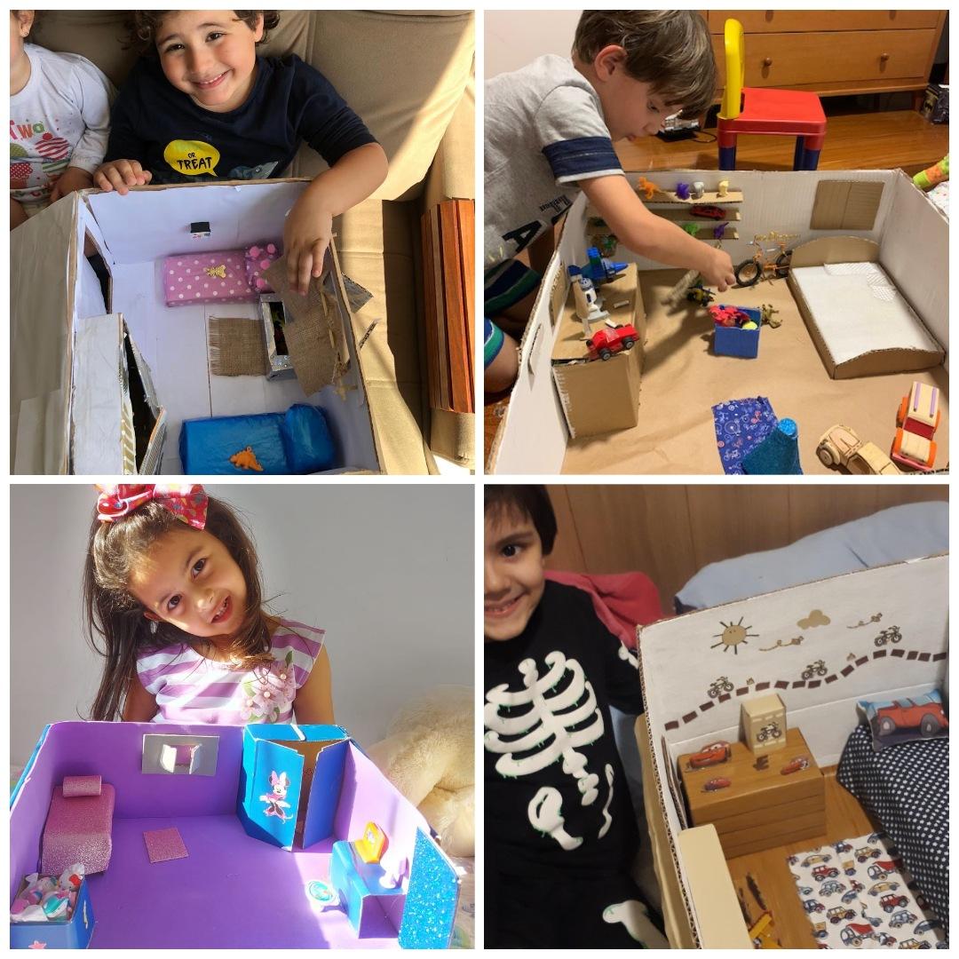 Construção de maquetes no 1º período - Educação Infantil